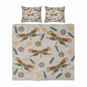 Painted Dragonfly Boho Bedding Set