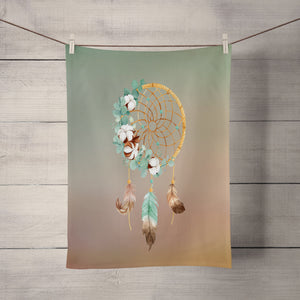 Gradient Dream Catcher Shower Curtain Optional Towels and Bath Mat