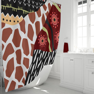 Tribal Collage Shower Curtain, Optional Bathroom Set