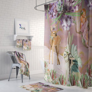 Fairy Garden Shower Curtain