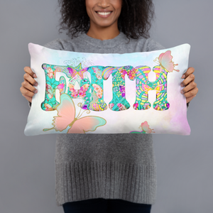 Hippie boho Throw Pillow, Faith