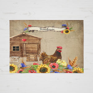 Country Farmhouse Chicken Rug