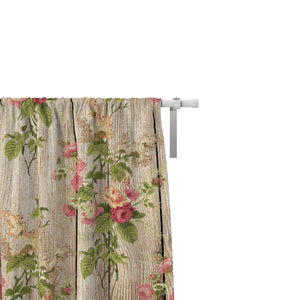 Shabby Farmhouse Window Treatments, Custom Window Curtains, Window Valance
