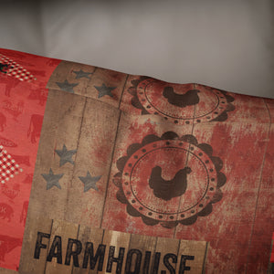 Rustic Farmhouse Throw Pillow