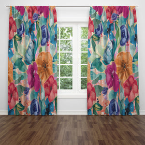 Vibrant Vintage Gypsy Sheer and Blackout Window Curtains