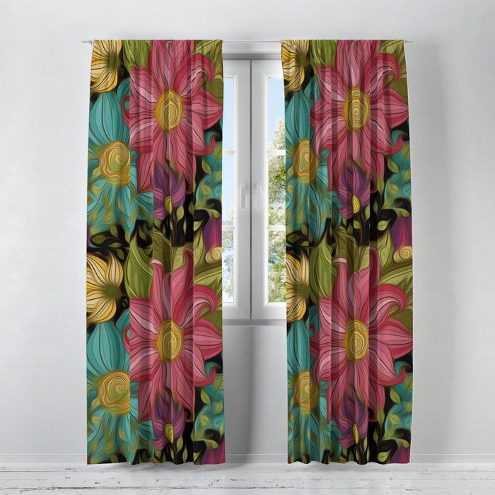 Floral Passion Window Curtains