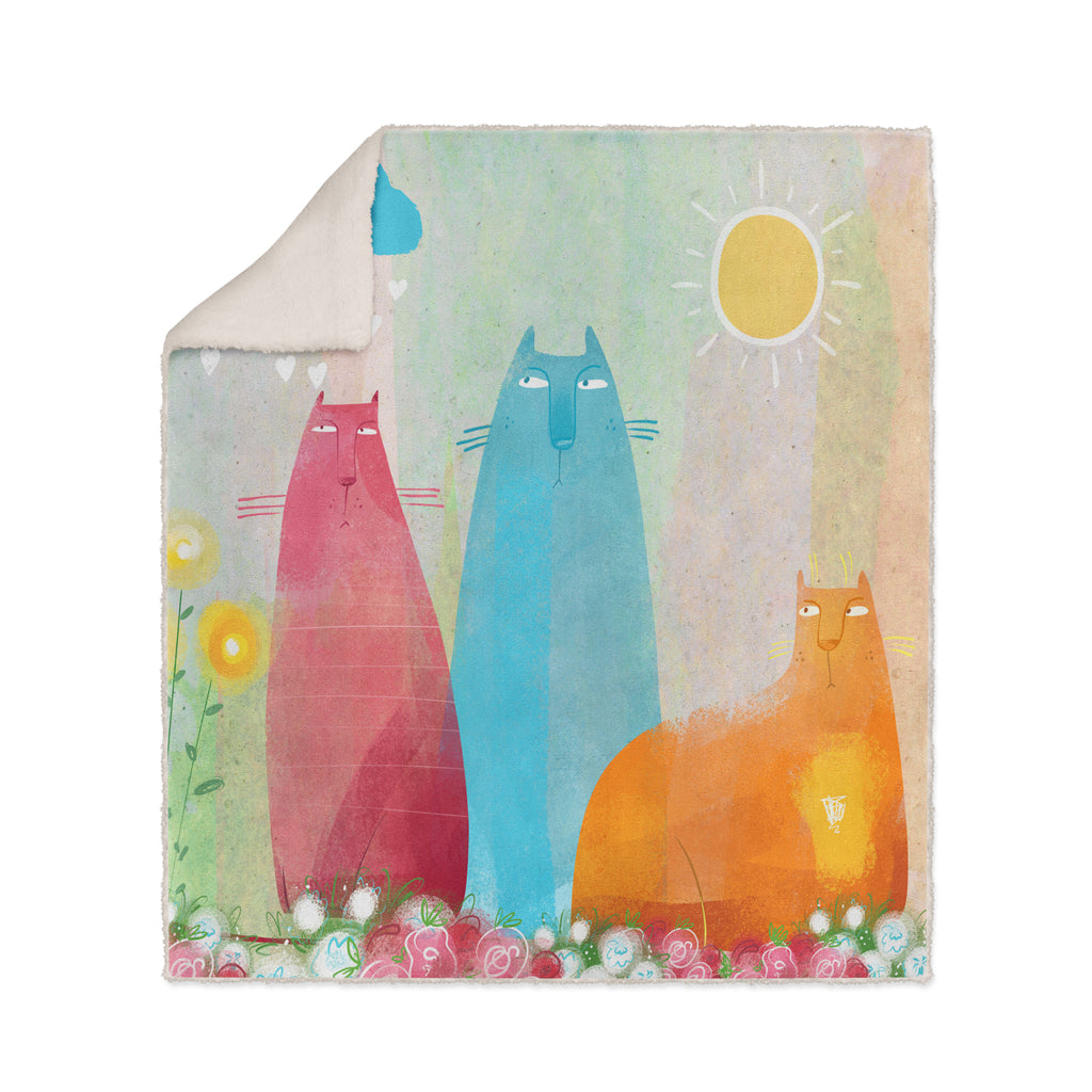 Flossies Cats Fleece Blanket