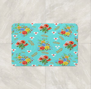 Prairie Poppy Floral Add Bath Mat and Towels For a Bathroom Set