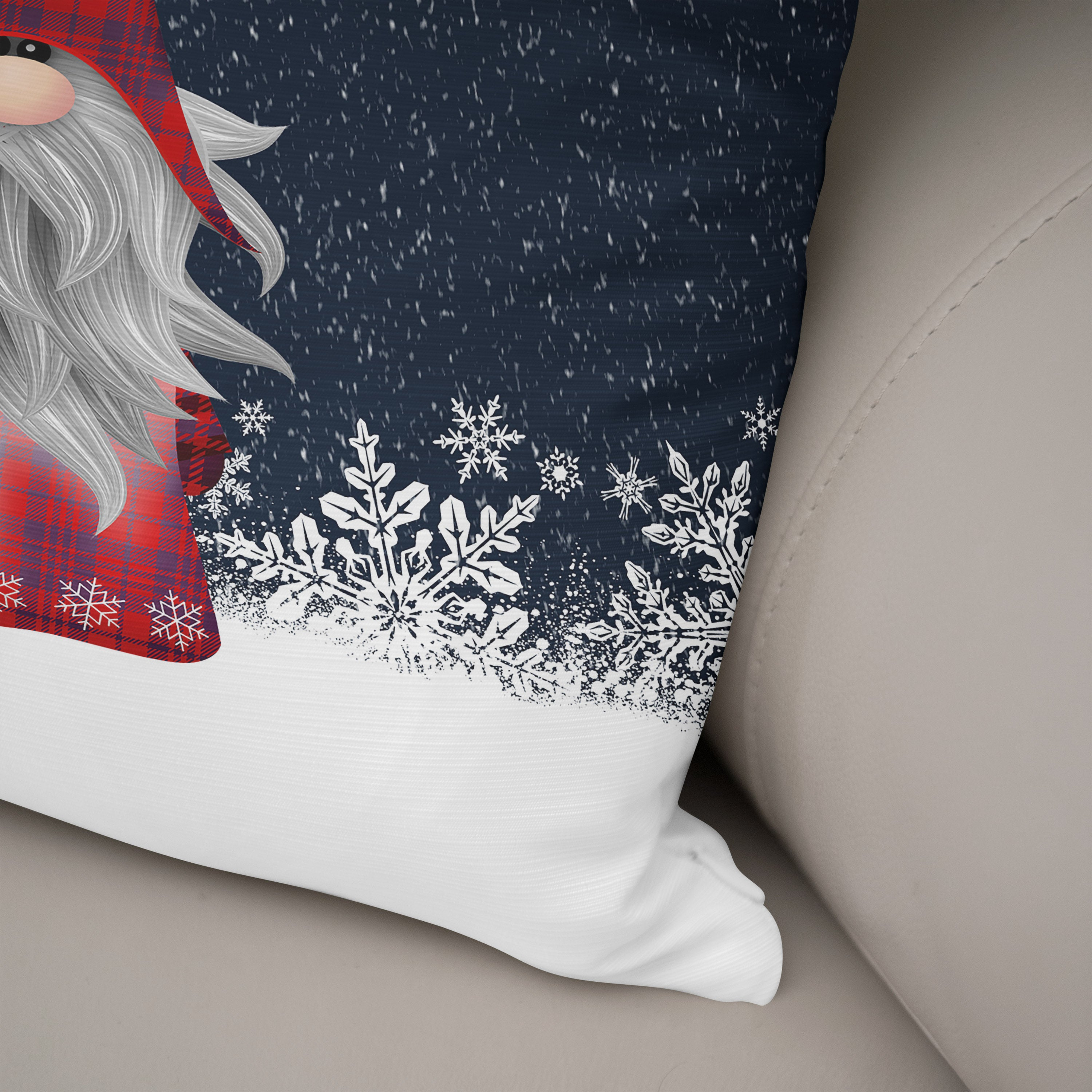 Christmas Gnome Throw Pillow