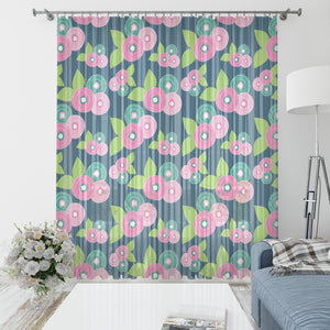 Granny Chic Floral Window Curtains