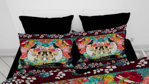 Grow Old With Me Couple Gothic Skull Comforter or Duvet Cover Bedroom Set