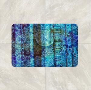 The Boho Chic Blue Gypsy Bath Mat