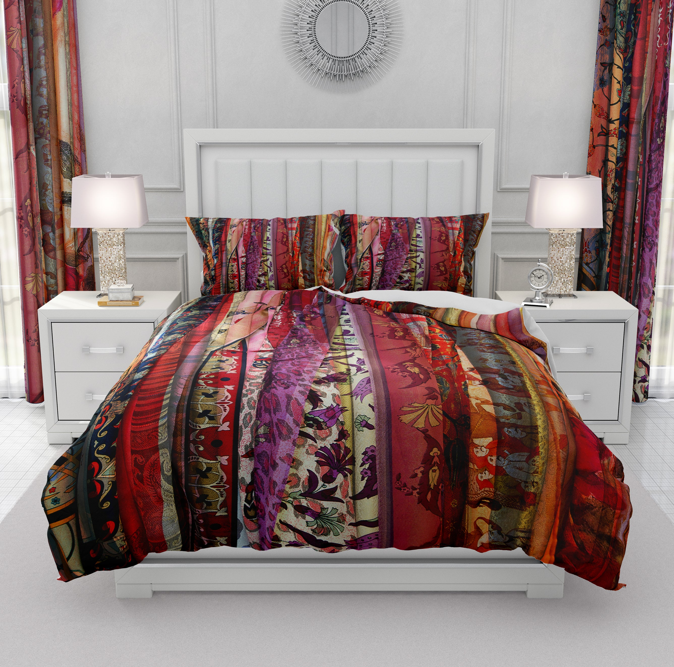Boho Chic Gypsy Rags Red Bedding