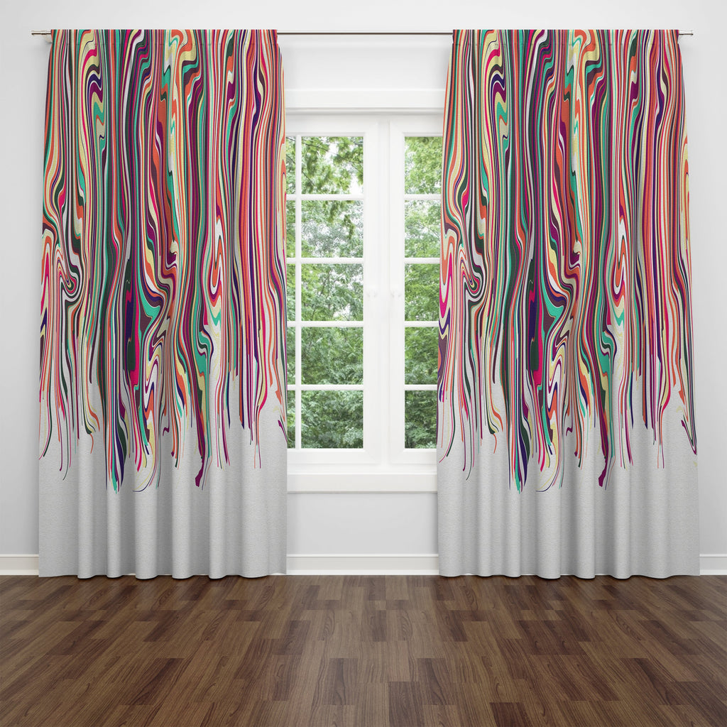 Eclectic Hippie Boho Sheer and Blackout Window Curtains