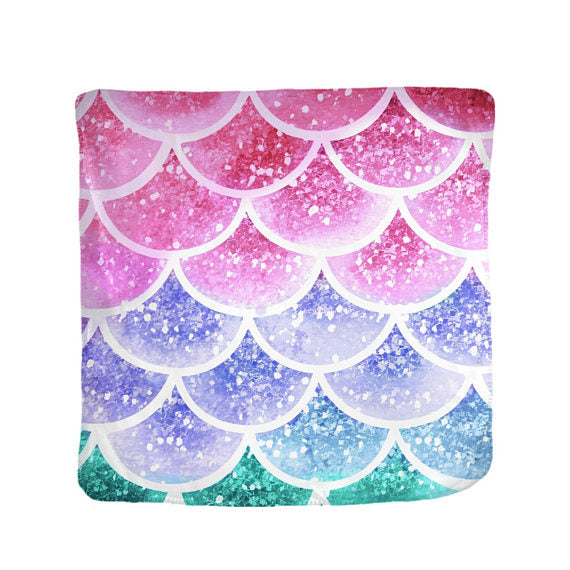 Pastel Mist Mermaid Scales Velveteen Blanket