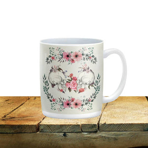 Sugar Skull Floral Mugs Forever Calavera 15 oz. Ceramic Coffee Cups