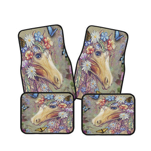 Boho Gypsy Horse Car Floor Mats