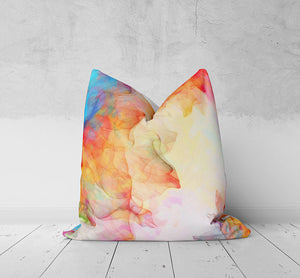 Watercolor Boho Throw Pillow, Boho Maximalist Decor