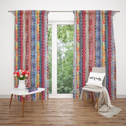 Folk N Funky  Boho Chic Custom Curtains, Gypsy & Hippie Colorful Home Accent Window Curtain Design