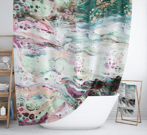 Marble Abstract Boho Shower Curtain