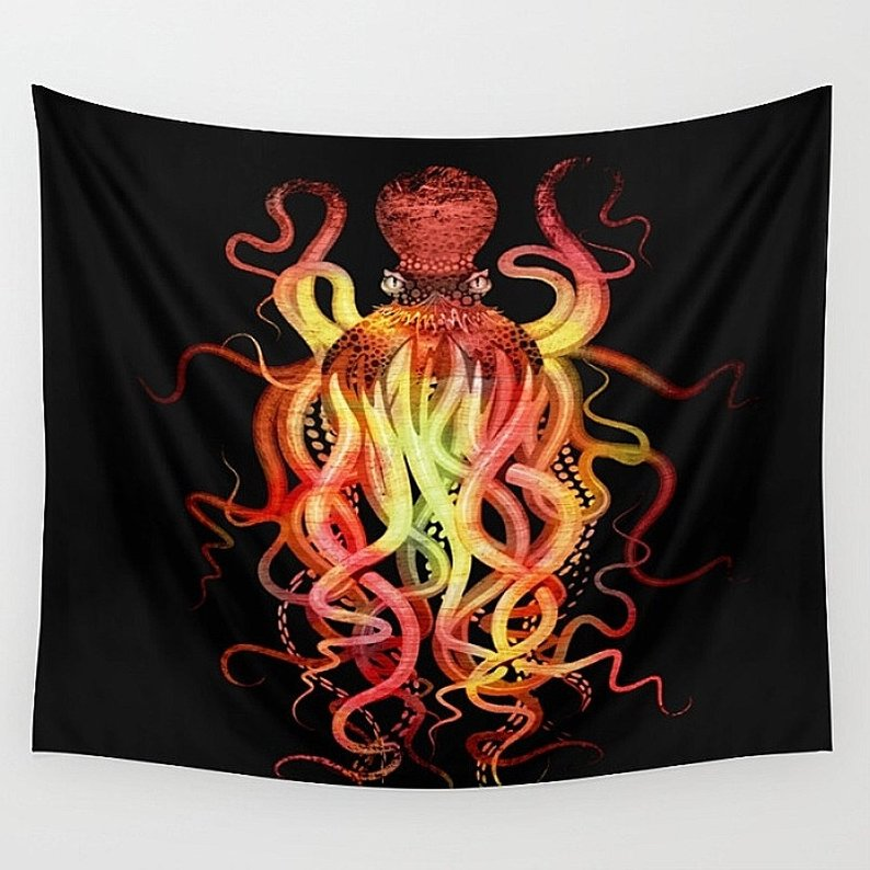 Octopus Wall Tapestry Abstract Home Decor