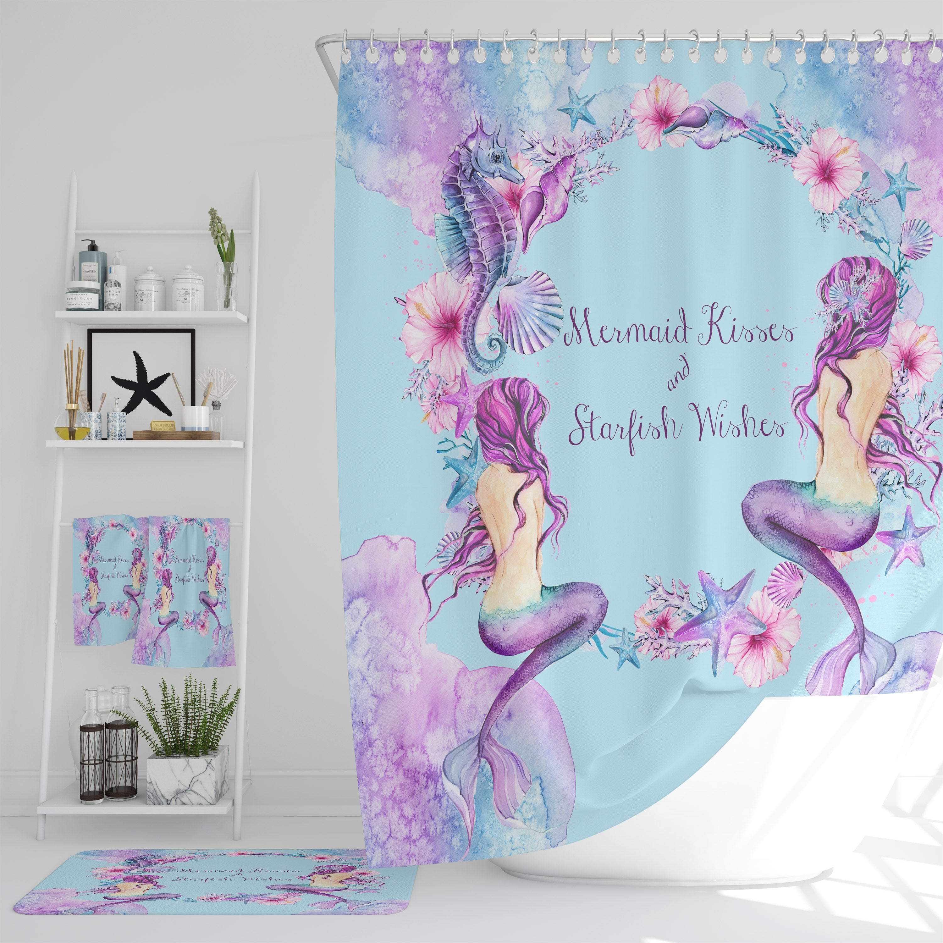 Purple Mermaid Shower Curtain