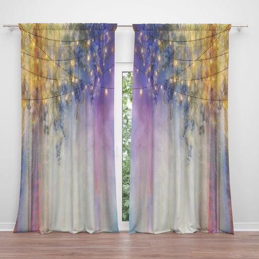Lavender Nights Window Curtains