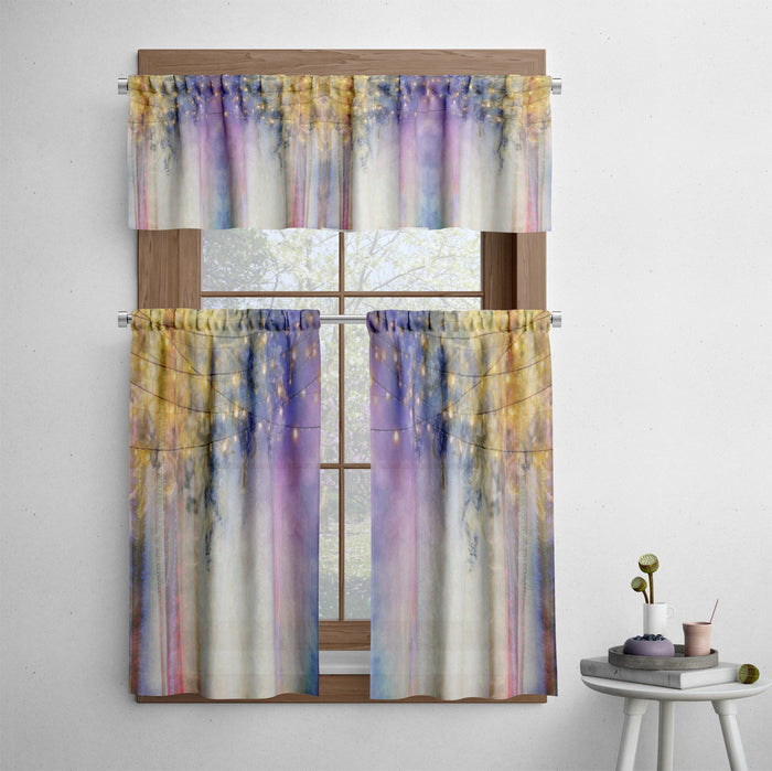 Lavender Nights Gypsy Cafe Style Curtains