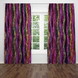 Boho Abstract Window Treatments, Custom Window Curtains