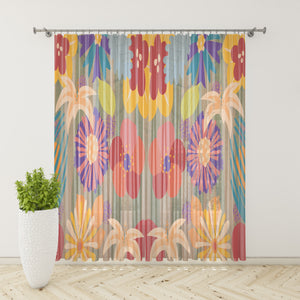 Memphis Floral Window Curtains