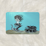 The Underwater Mermaid Sea Treasures Shower Curtain by Folk N Funky