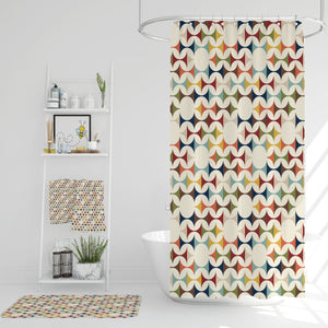 Retro Design Mid-Century Modern Shower Curtain