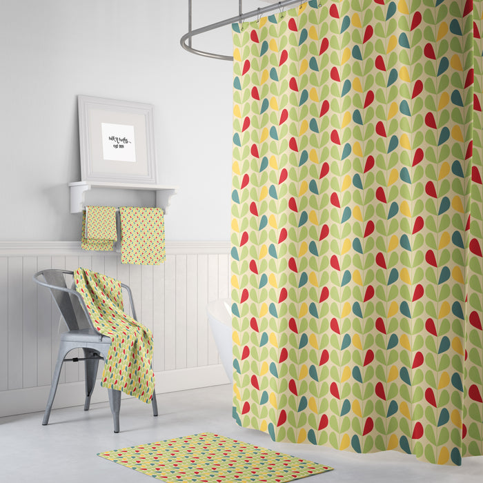 Retro Mid Century Shower Curtain