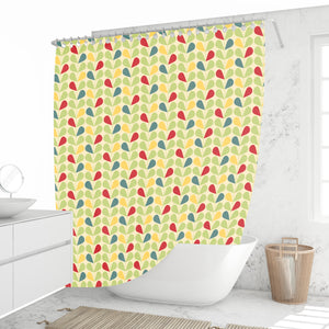 Retro Mid Century Foliage Shower Curtain
