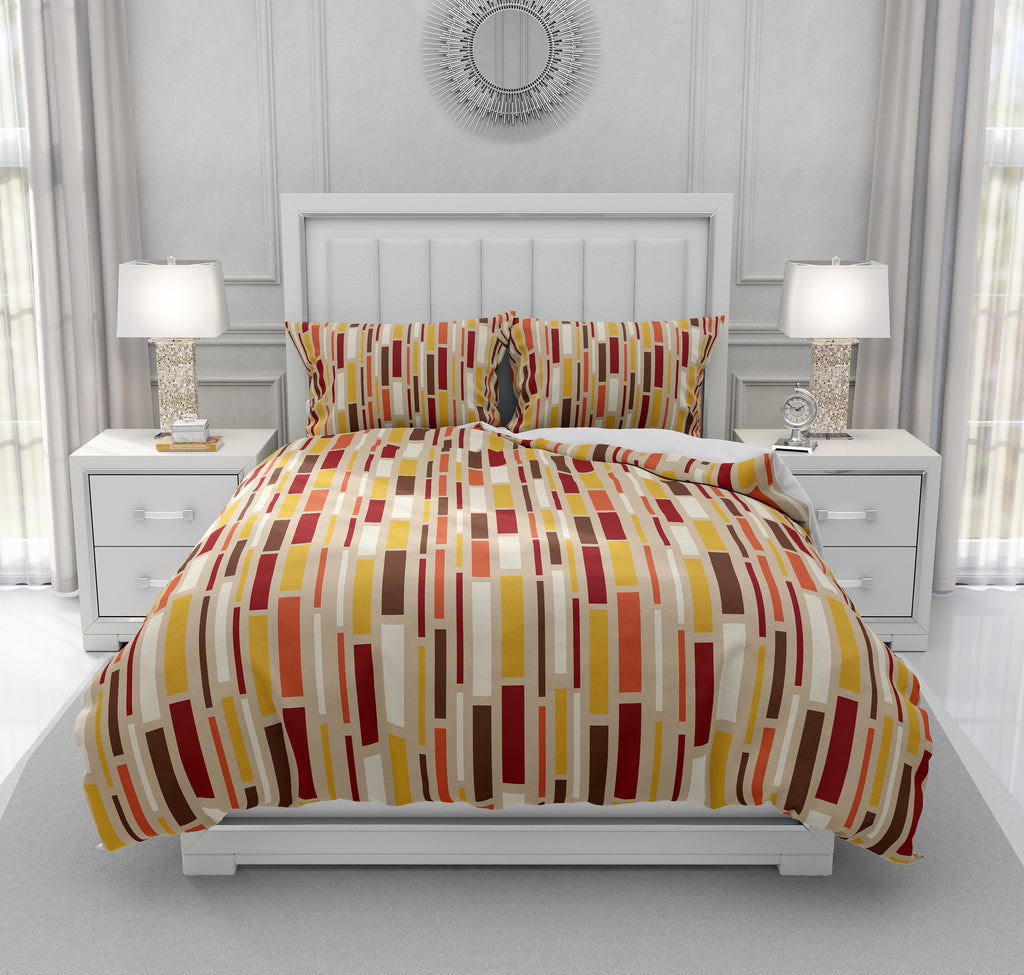 Brown Mid Century Modern Bedding