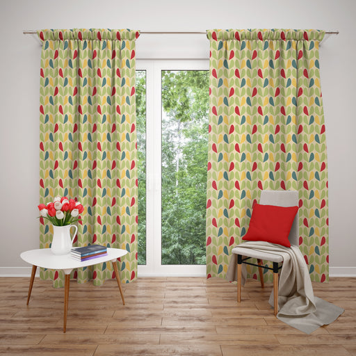 Retro Mid Century Modern Window Curtains