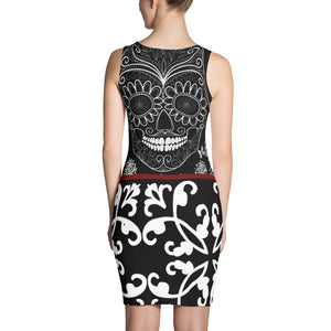The White Stripes Sugar Skull Body Con Dress
