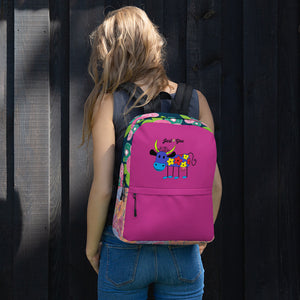 Just B You Backpack Purple Cow