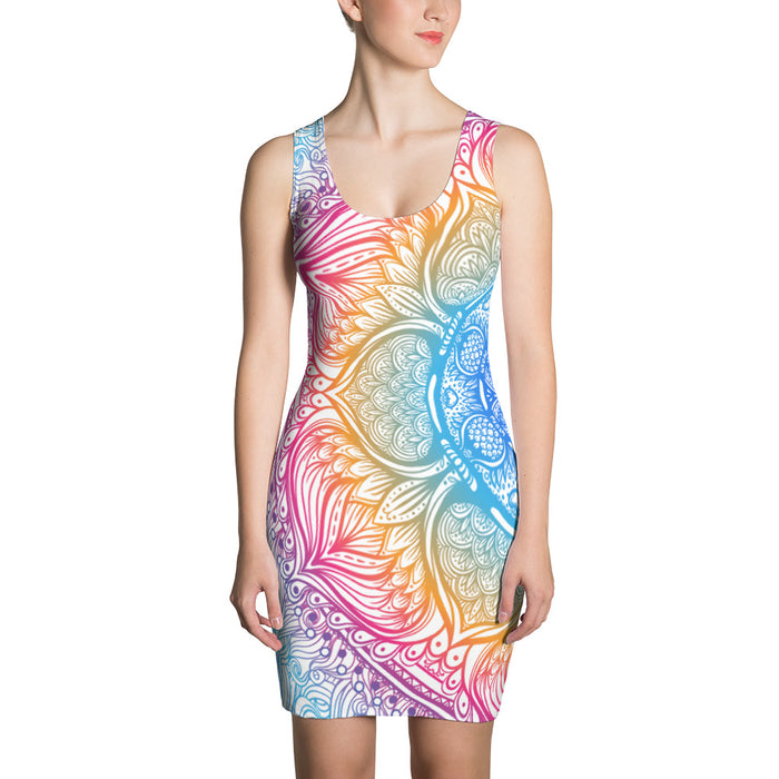 Mandala Sun Body Con Dress