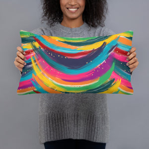 Color Crazy Throw Pillow