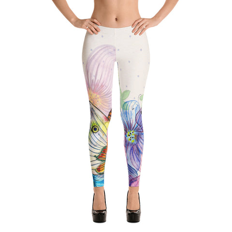 Butterfly Floral Abstract Leggings