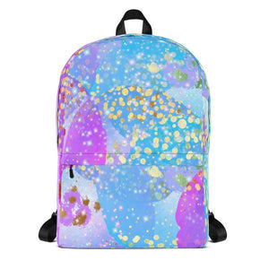 Funky Confetti Water Resistant Polyester Backpack With Laptop Pocket