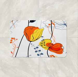 Modern Floral Abstract Shower Curtain and Bathroom Decor