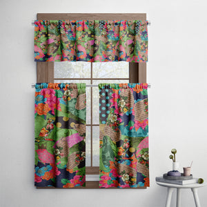 Boho Molly Patchwork Cafe Style Curtains