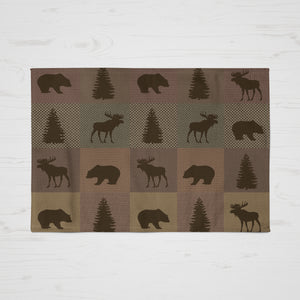Woodland Plaid throw Rug