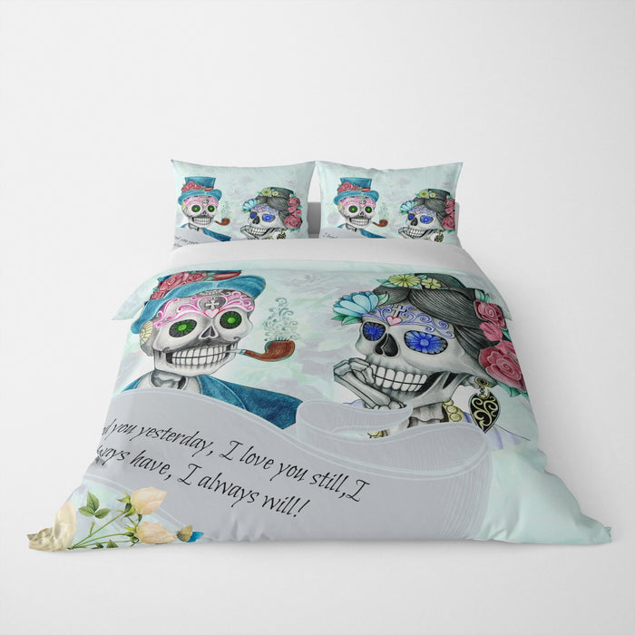 Sugar Skull Bedding, Mr and Mrs, Always Have Always Will