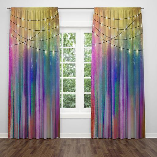 Northern Nights Gypsy Boho Window Curtains
