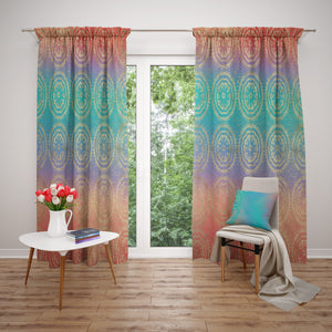 Ombre Boho Window Curtains