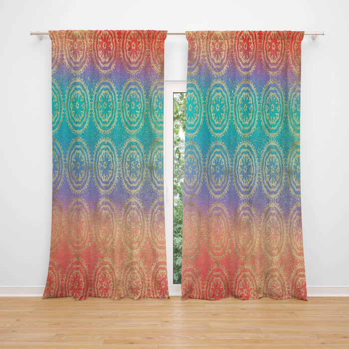 Ombre Boho Sheer and Blackout Window Curtains