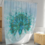 Watercolor Peacock Shower Curtain